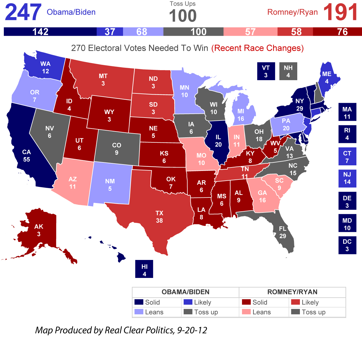 Election CT Races To Watch - Map of us election 2012